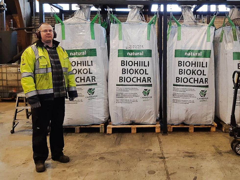 Biochar bags